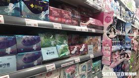 衛生棉,超市,全聯。(圖/記者馮珮汶攝)