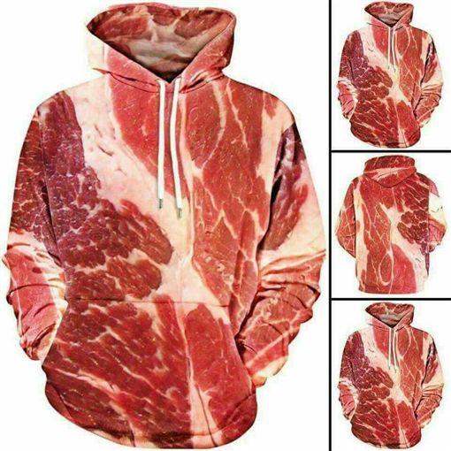 太潮拉!衣服樣式百百種,就有女網友貼出一件「肉」樣式的衣服,好奇問「好看嗎?」其他網友看到後,紛紛笑噴說「一定會被狗咬」!(圖/翻攝自爆廢公社)