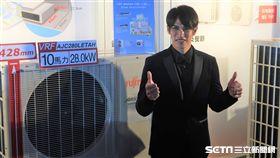 陽岱鋼連兩年代言空調品牌。(圖/記者王怡翔攝)