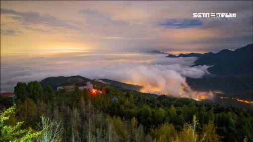 鹿谷秋冬限定!雲霧繚繞樹海翻黃山頭