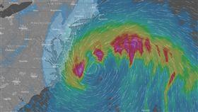 美東受炸彈氣旋暴風雪襲擊。(圖/翻攝自網路)