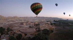 埃及,熱氣球墜毀意外(圖/翻攝自推特)