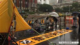 時代力量總統府前禁食抗議 記者張之謙攝