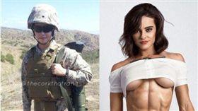 美國海軍陸戰隊擔任獸醫的女軍人凱特琳。(圖/翻攝Caitlin IG)