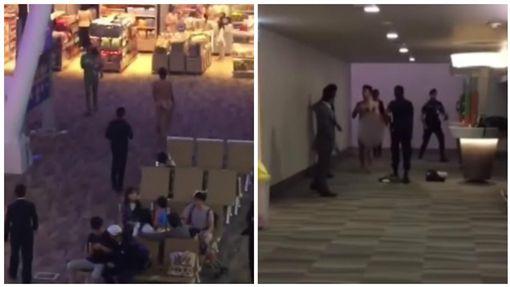 泰國,普吉國際機場,男子裸奔大鬧機場(圖/翻攝自Youtube)