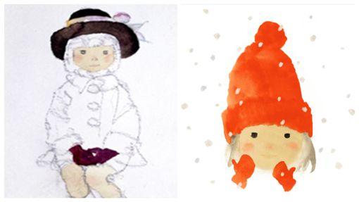 岩崎知弘,戴紅色羊毛帽子的女孩,閣林文創