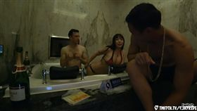 「台女想吃洋腸」2女3男泡泡浴大戰/實況主,直播,摩鐵,泡泡浴,Cjayride,台女,洋男,洋腸/Cjayride twitch