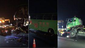 中山高拖板車打滑…統聯客運追撞 駕駛慘亡釀1死3傷 ●【爆料公社】●