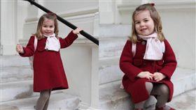 英國,皇室,夏綠蒂公主,幼兒園,威廉王子(圖/翻攝自推特@KensingtonRoyal)