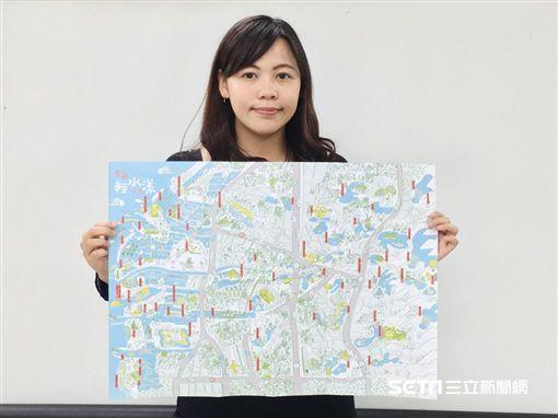 「台南輕水漾」主題地圖。(圖/台南市觀光旅遊局提供)