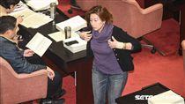 立法院召開臨時會審查勞基法修正草案,民進黨立委林靜儀。 圖/記者林敬旻攝