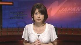 ▲女主播秋元優里爆出不倫醜聞。(合成圖/翻攝自Twitter)