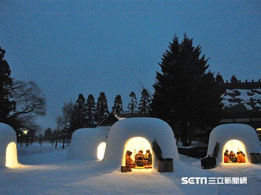 日本東北雪祭,秋田橫手雪屋祭。(圖/一般社団法人横手市観光協会)