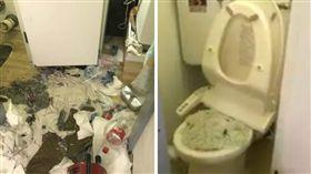 貓砂,馬桶,廁所,沖水,堵塞(圖/翻攝自推特@hironyauji)https://goo.gl/Do926A