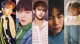 ▲永才(左起)號召JIN、KEN、恩光、志訓加入「最強偶像戰隊」。(圖/翻攝自臉書)