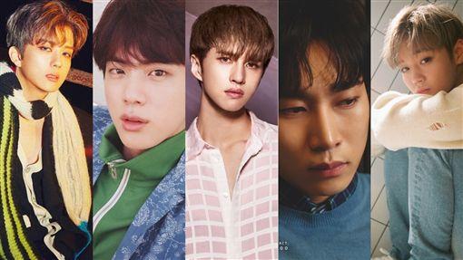 ▲永才(左起)號召JIN、KEN、恩光、志訓插足「最強偶像戰隊」。(圖/翻攝自臉書)