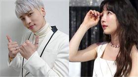 ▲鐘鉉、太妍。(圖/翻攝自SHINee臉書、일간스포츠)