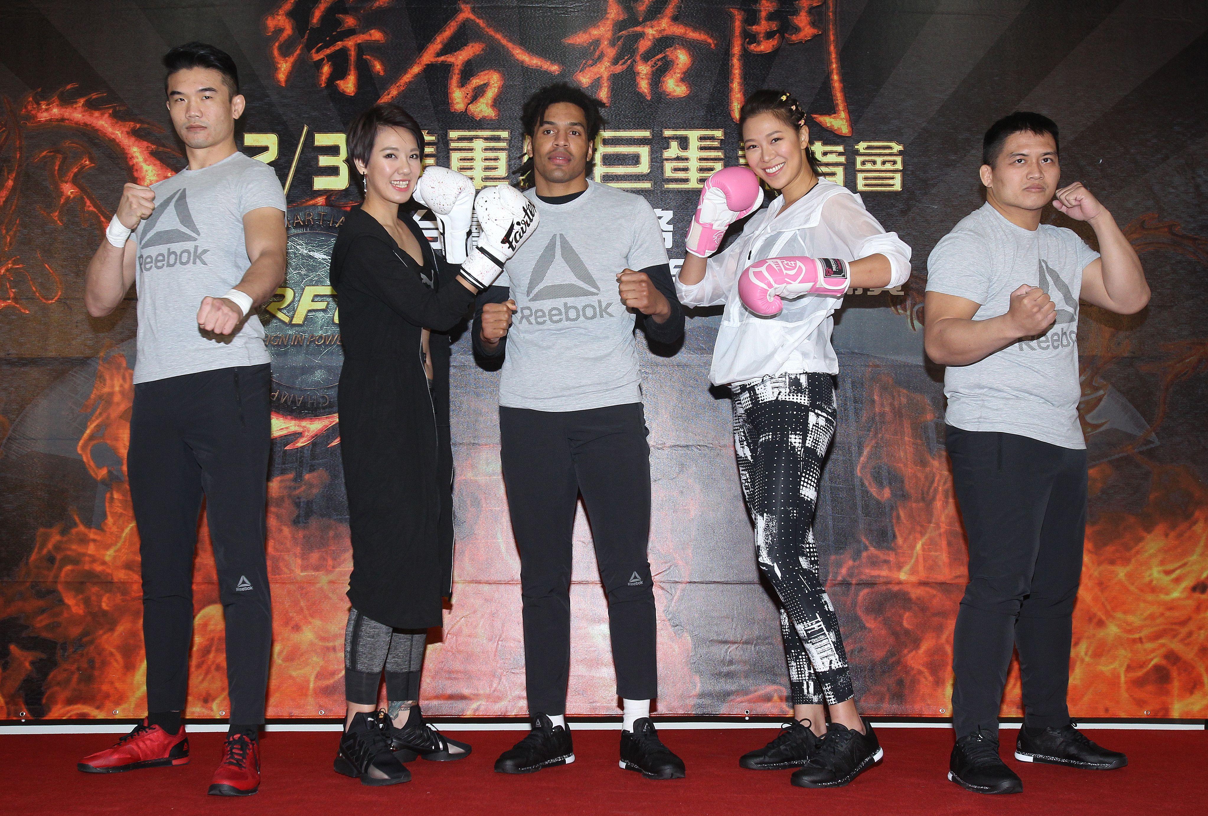 林又立、劉宇柔任RFC首屆綜合格鬥錦標賽大使。(記者邱榮吉/攝影)
