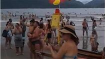 巴西,海灘,拍手,鼓掌,兒童,走失,小孩,媽媽