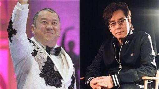 曾志偉,譚詠麟/翻攝自微博