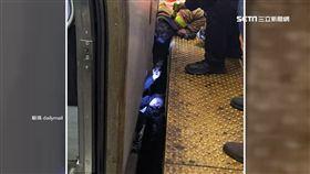 女大生昏倒落軌 慘遭火車碾壓頭卡車底