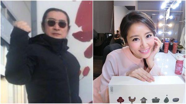 (合成圖/黃安微博、林心如臉書)