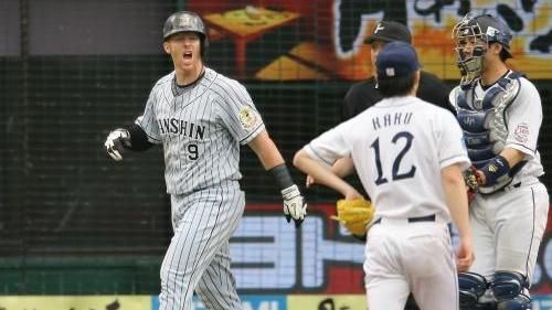 阪神隊前洋將Murton曾與郭俊麟因觸身球起衝突(圖/翻攝自YouTube)
