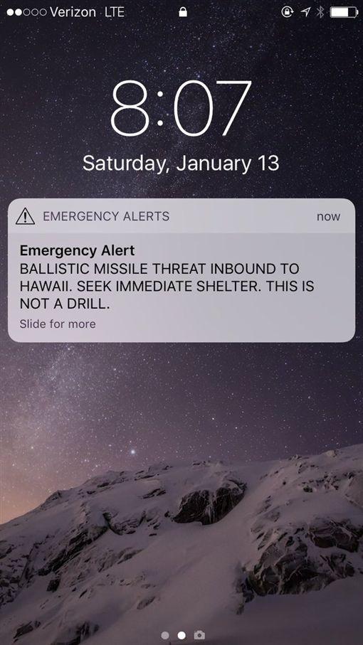 北韓射飛彈?夏威夷政府誤發避難警報 官方證實「按錯鈕」圖/翻攝自賈巴德Tulsi Gabbard推特