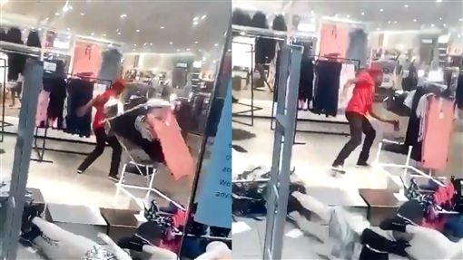諷黑人是猴子!H&M遭民眾闖入搗亂 「門市全毀」迫關閉圖翻攝自推特