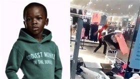 諷黑人是猴子!H&M遭民眾闖入搗亂 「門市全毀」迫關閉 合成圖翻攝自推特、H&M官網