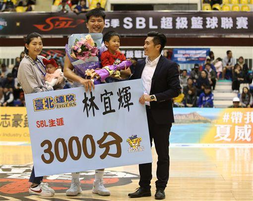 林宜輝生涯3000分(圖/中華籃協提供)