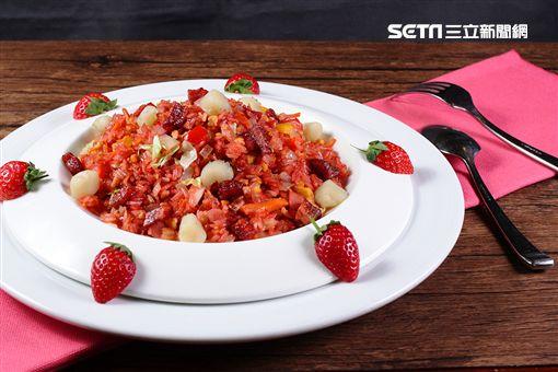 草莓季主題美食。(圖/美麗信花園酒店提供)