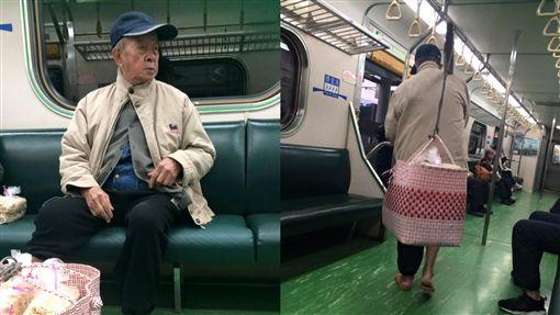 太太臥病在床…8旬翁頂寒風穿拖鞋 「挑米香」到處賣維生圖翻攝自爆廢公社