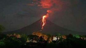 菲律賓,馬永火山,Mayon Volcano,噴發,岩漿,撤離(圖/翻攝自推特@iamjhann)https://twitter.com/search?q=Mayon%20Volcano&src=typd&lang=zh-tw