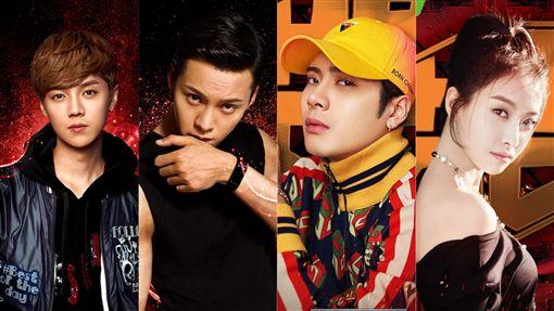 ▲鹿晗、陳偉霆、王嘉爾及宋茜擔任《熱血街舞團》導師。(合成圖/翻攝自熱血街舞團微博)