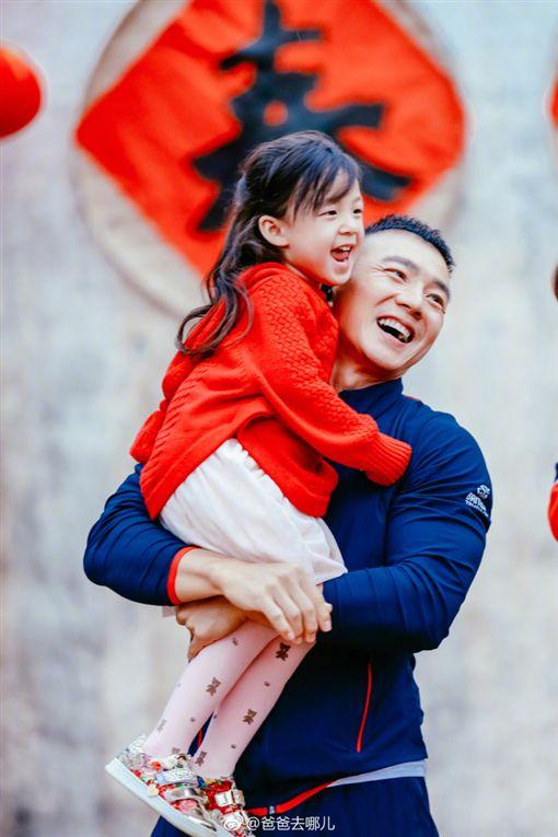 爸爸去哪兒,劉畊宏,小泡芙(圖/翻攝自微博)