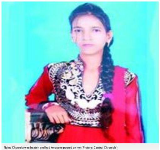 印度14歲身障少女納依娜因哥哥私奔,害她被報復活活燒死。(圖/翻攝metro)