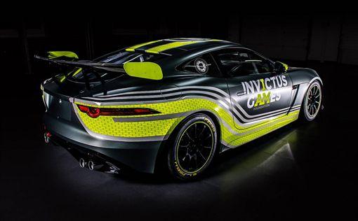F-Type SVR GT4賽車。(圖/翻攝Jaguar網站)