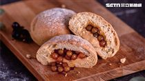 Share le pain微酵烘焙,爆漿珍奶軟歐。(圖/Sharetea提供)