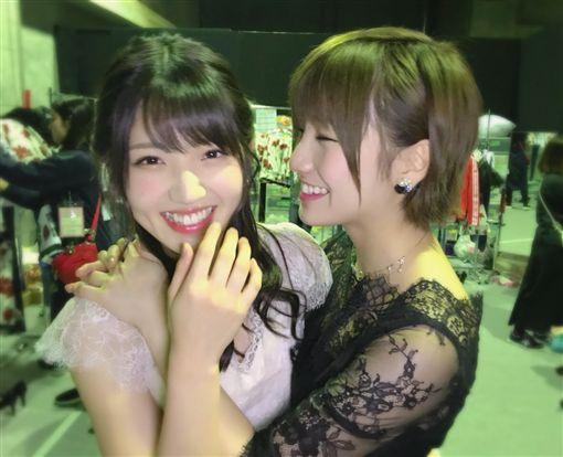 AKB48,村山彩希,岡田奈奈,百合,接吻,公演,演唱會(圖/翻攝自推特)