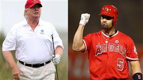 川普身高體重遭疑謊報,被拿來和相仿的運動員身材對比狂酸。(圖/翻攝Twitter)