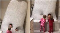 家長,父母,家管,小孩,泡泡浴,洗澡,玩水,童心未泯,爸爸 (圖/翻攝自YouTube)