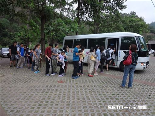 台南梅嶺梅花,交通接駁。(圖/台南市觀光旅遊局提供)