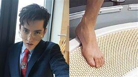 吳亦凡,EXO,腳,腳趾,腳指甲,衛生,耳屎(圖/翻攝自微博)