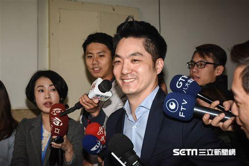 國民黨立委蔣萬安宣布不參選台北市長。 圖/記者林敬旻攝