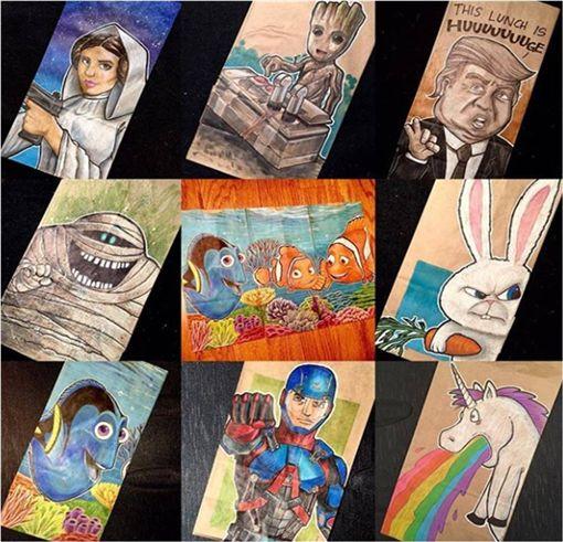 害羞,內向,爸爸,兒子,紙袋,美國,加州,Nicholas Cabalo,Dominick Cabalo 圖/翻攝自IG