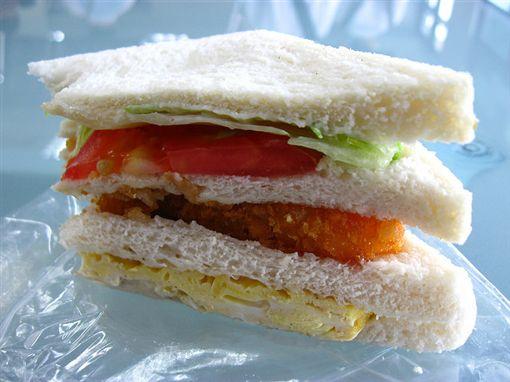 三明治,早餐,早餐店,