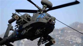 美軍阿帕契直升機(Apache)演習墜毀(圖/翻攝自推特)