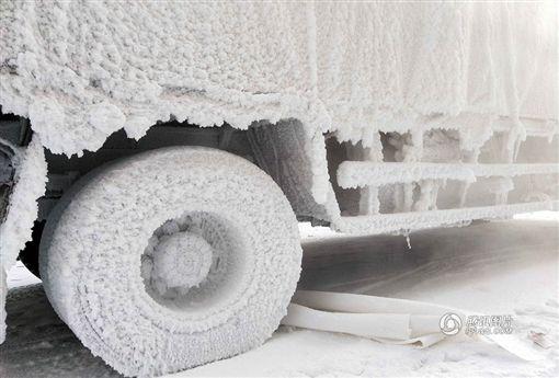 大陸,黑龍江,貨運,暖車,嚴寒,高寒天氣 圖/翻攝自搜狐新聞