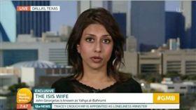 坦尼亞曾被稱為「伊斯蘭國第一夫人」,現在和丈夫分道揚鑣,積極從事消弭激進主義的工作。(圖/翻攝ITV)